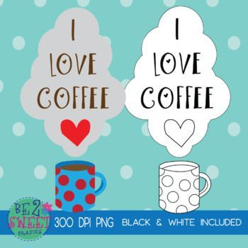 Free Coffee Lovers Digital Clipart Black and White Images Included! - #black #clipart #coffee #digital #images #lovers #white - #CoffeeLovers