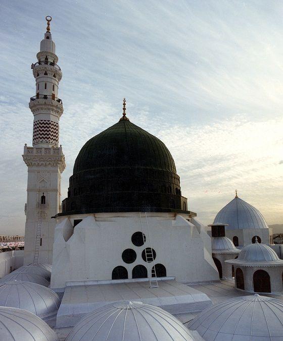 صورة عالية الجودة للتحميل القبة الخضراء المسجد النبوي الشريف Masjid Mosque Taj Mahal
