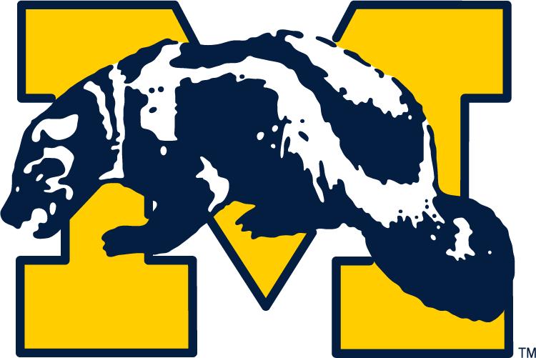 Michigan Wolverines Primary Logo 1964 Michigan Wolverines Michigan Wolverines Football Logos