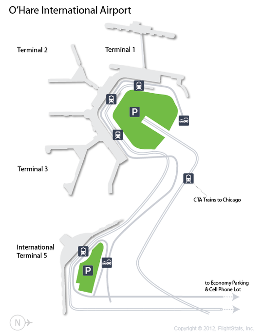 ORD OHare International Airport Terminal Map airports
