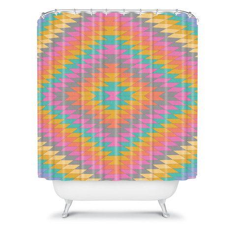 Bianca Green Ancient Rainbow Shower Curtain