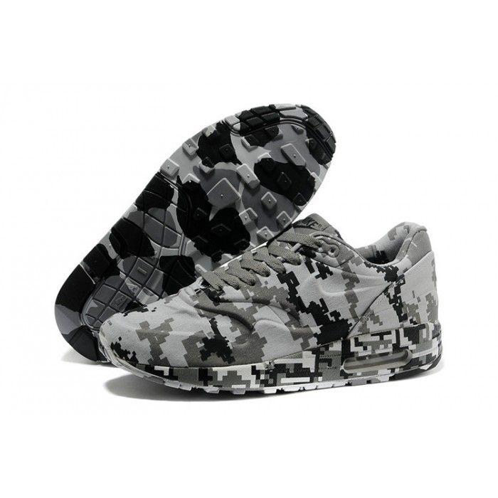 Nike Air Max 1 Men's Camo Black light gray Shoes Woodland Camo