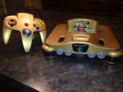 Nintendo 64 + 1 Controllers  Clean, Tested and custom made Zelda case!