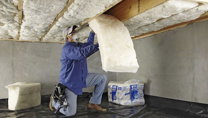 Install crawl space or basement insulation crawl space for Mold resistant insulation