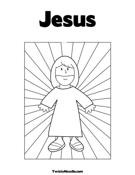 Jesus Coloring Page From Twistynoodle Com Jesus Coloring Pages
