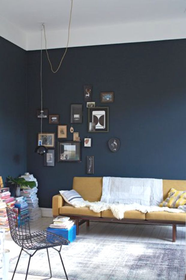 Best Easy Diy Paint One Blue Wall Home Decor Interior Home 640 x 480