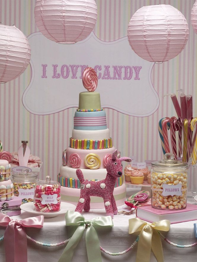 Decorao de festa infantil temas para festa de criana candy candy buffet tables watchthetrailerfo