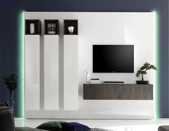 ensemble meuble tv lumineux pas cher contemporain ensemble meubles tv pinterest salons. Black Bedroom Furniture Sets. Home Design Ideas
