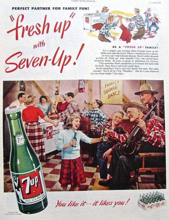 1949 Vintage 7 UP Advertisement Original by ACMEVintageLimited, $9.75