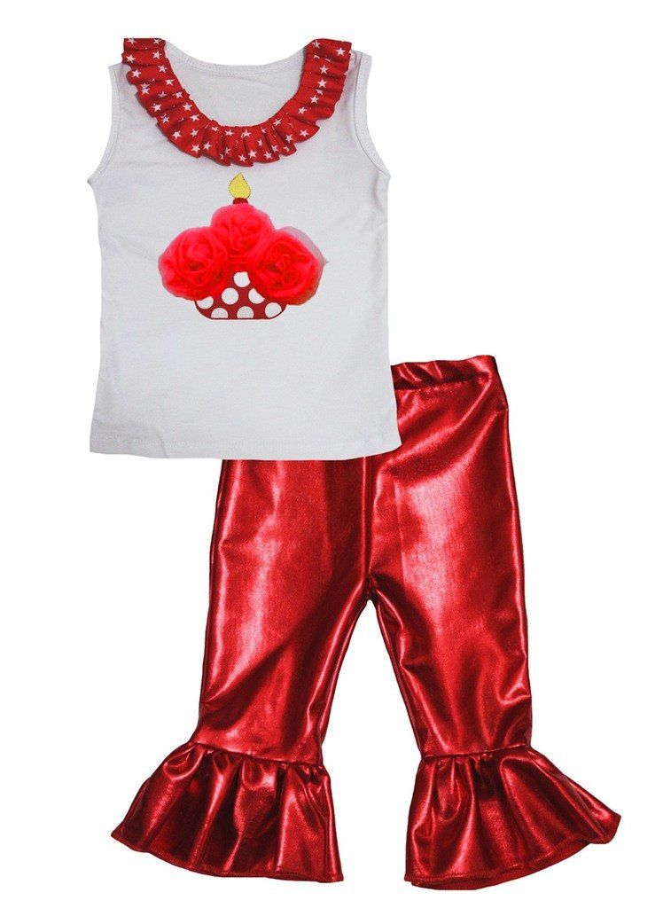 Petitebella White Shirt Red White Green Dots Waist Skirt Outfit 1-8y