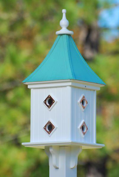Best Copper Roof Birdhouse White Vinyl 28 In X12 In Copper 400 x 300
