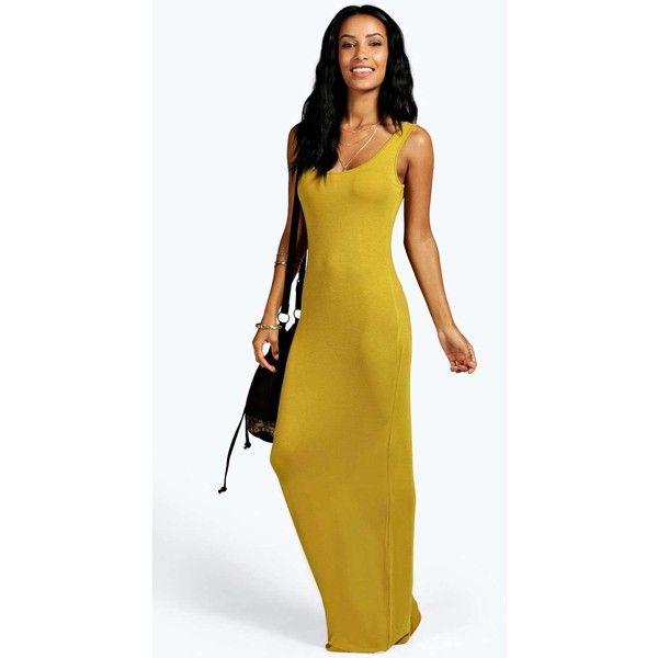 42d213808b Boohoo Basics Sandy Maxi Dress ( 16) ❤ liked on Polyvore featuring dresses