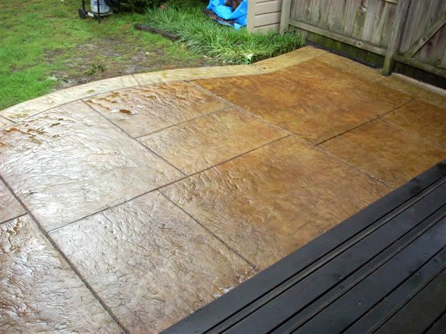 stamped concrete patio outdoors pinterest stamped concrete