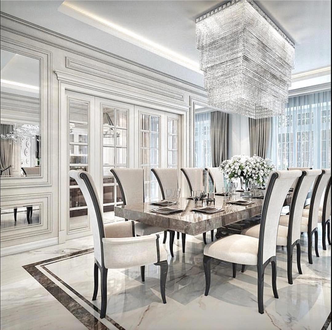 50 Disenos Inspirada Del Gabinete Para Un Lujo Comedor Farmhousediningroom Luxury Dining Room Luxury Dining Elegant Dining Room
