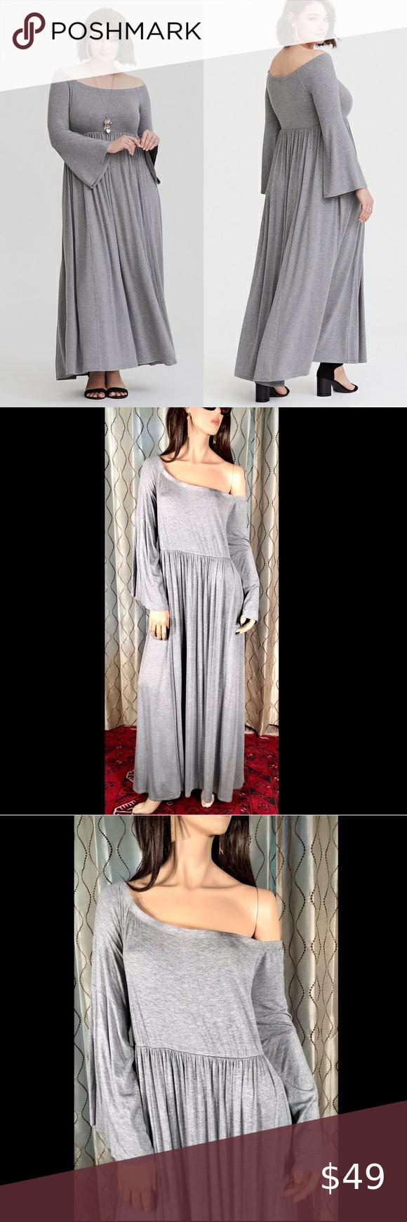Torrid Gray Jersey Knit Off Shoulder Maxi Dress 4x Shoulder Maxi Dress Maxi Dress Dresses [ 1740 x 580 Pixel ]