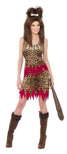 Damen Hohlenmensch Neandertaler Steinzeit Kostum Ca 38 Kostum