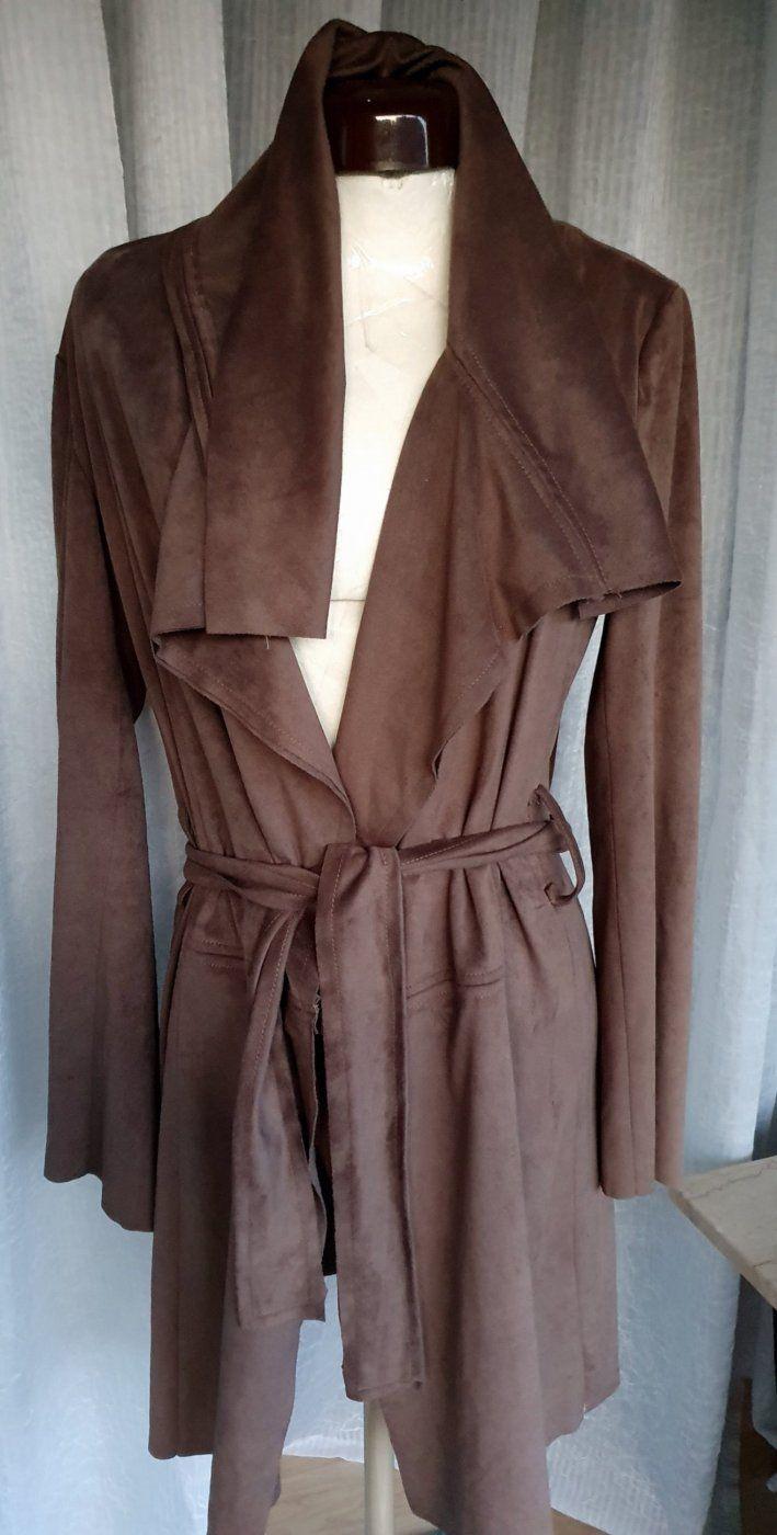 Lässiger Ledermantel/Mantelkleid | Mädchenflohmarkt