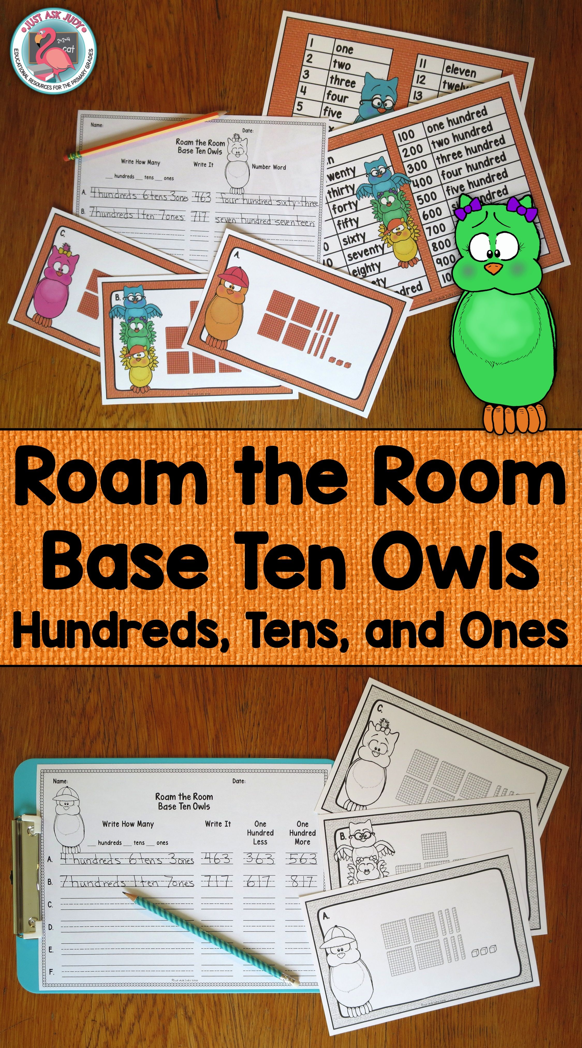 Place Value Activity Owl Theme Hundreds Tens And Ones
