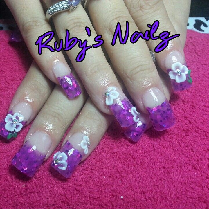 3d Purple Rock Star Nails Rock Star Nails Star Nails Nails