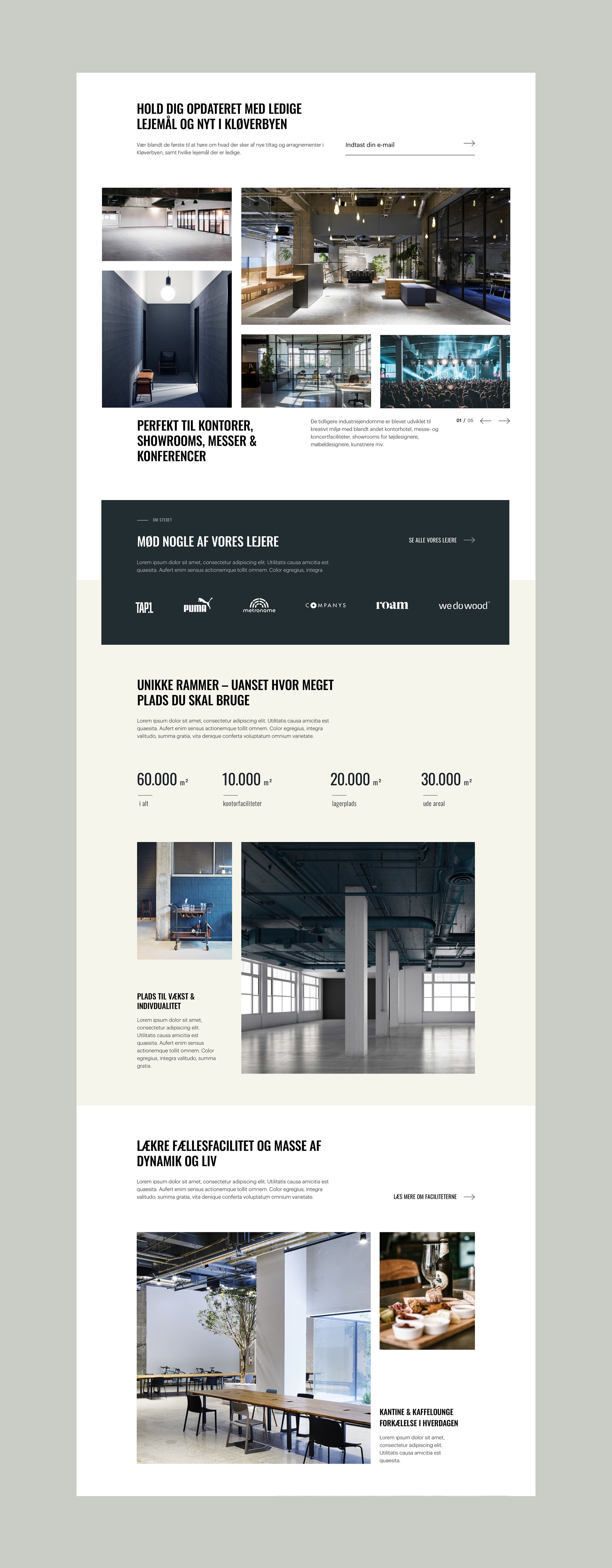 Kloverbyen On Behance Web Design Web Design Inspiration Design