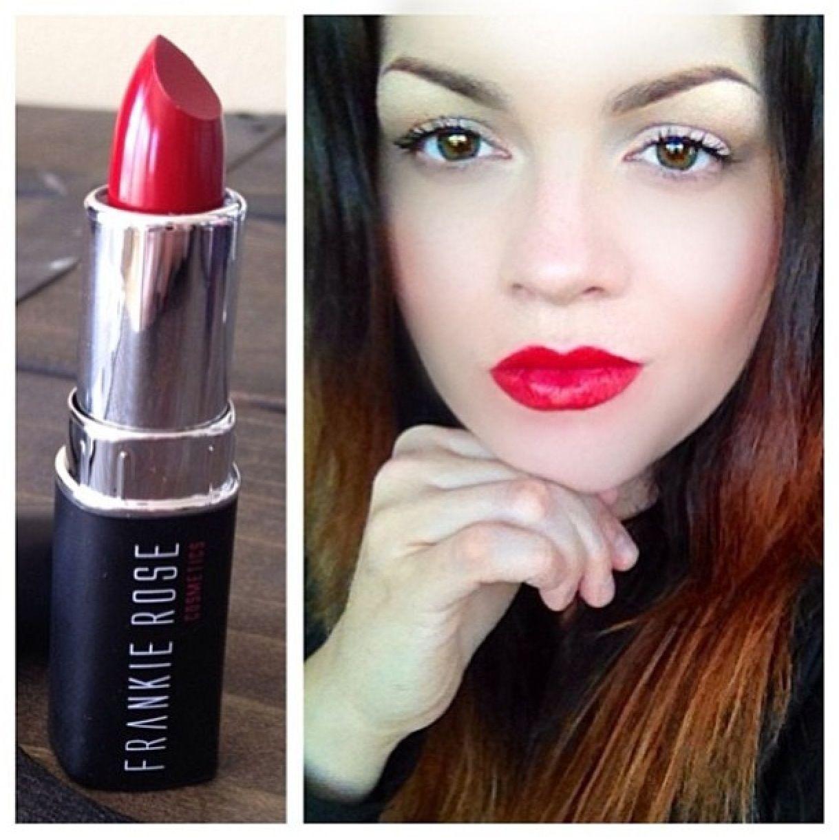 "Frankie Rose Cosmetics perfect red lipstick ""Raven"" 16"