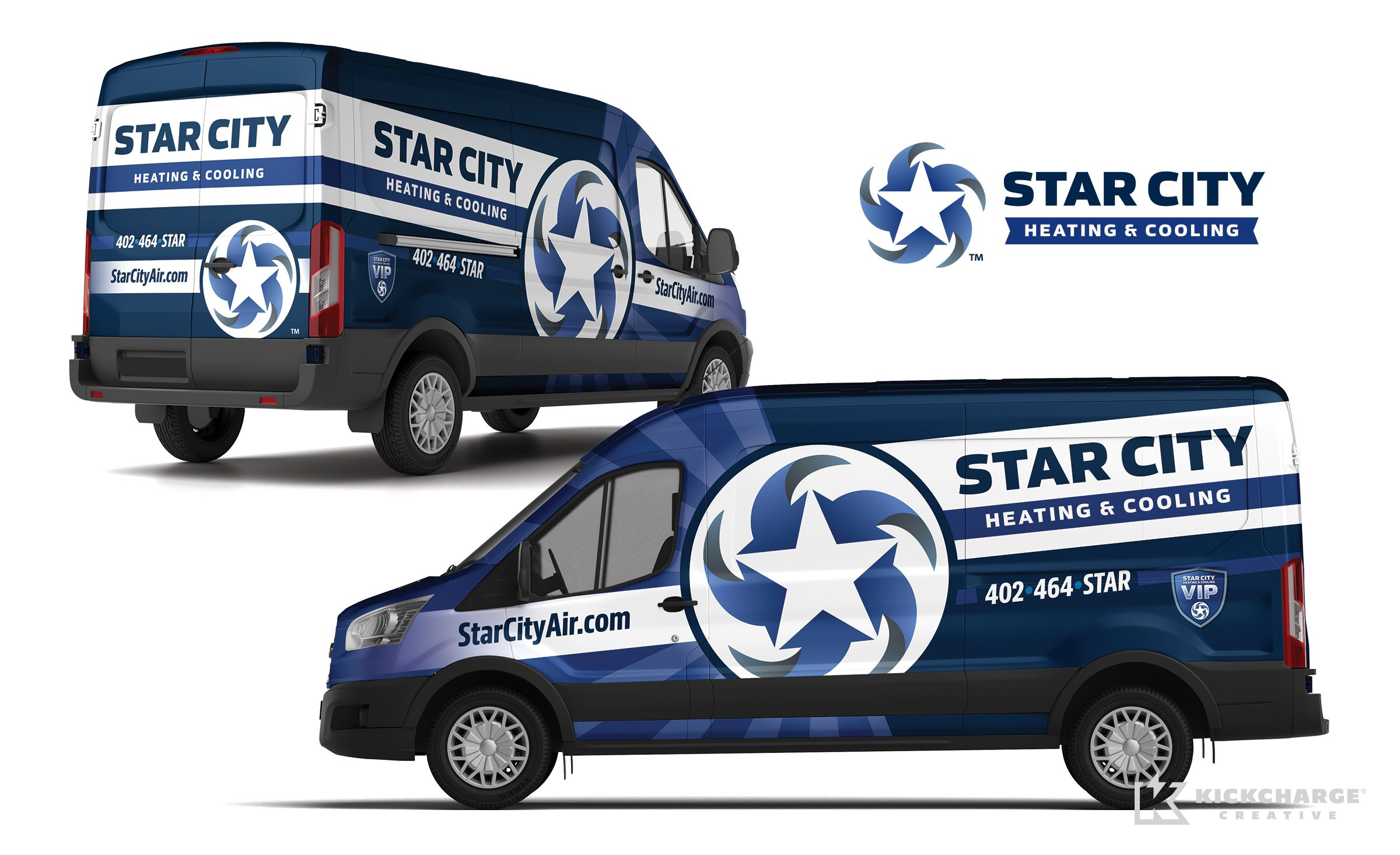 Truck Wrap Design For Star City Heating Cooling Nj Advertising