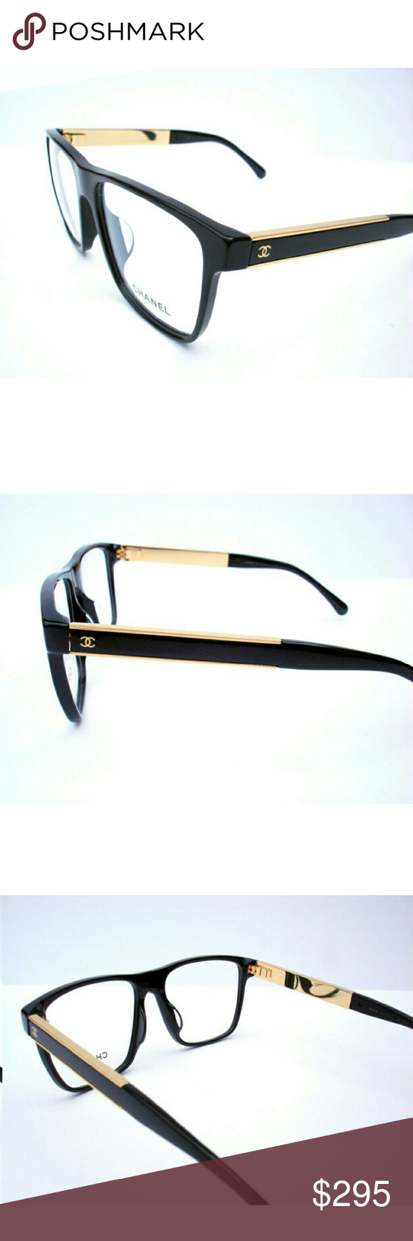 55b593fe1e0 Chanel Eyeglasses Authentic chanel Eyeglasses Black and gold frame Size  55-16-140 Includes original case only Chanel Accessories Glasses