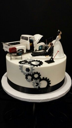 Mechanics Groom S Cake My Cakes Wedding Groom Wedding