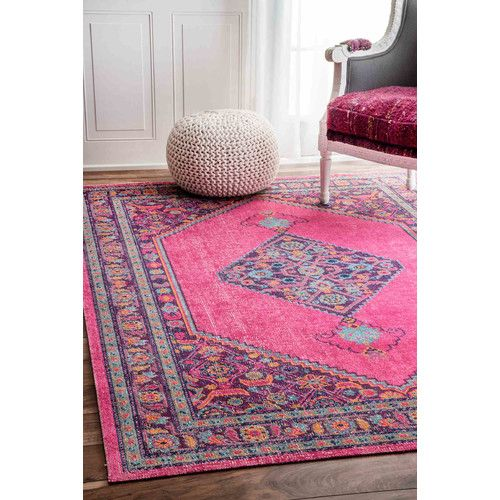 Found it at Wayfair - Bahena Pink Area Rug | living space ...