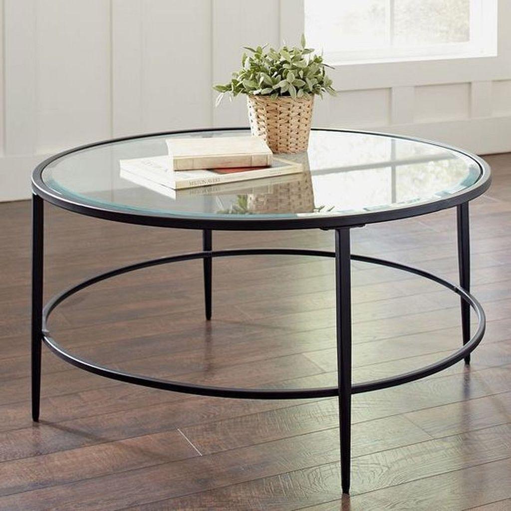 circle glass coffee table set