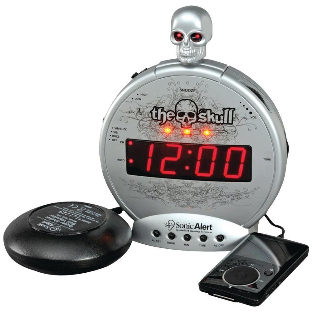 Sonic Alert The Skull Alarm Clock With Bone Crusher