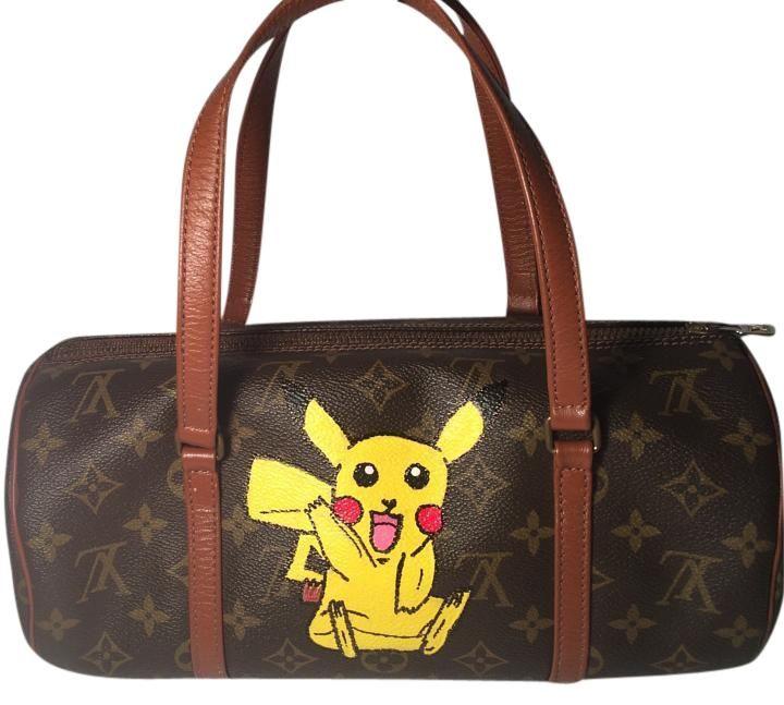 60e7907b5267 Louis Vuitton Papillon 30 844 Pokemon Inspired Handbag Brown Monogram Tote  Bag…