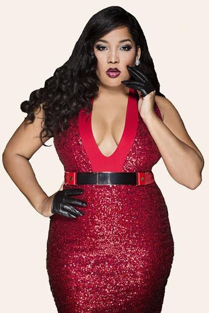 Vestido rojo y negro para gordas