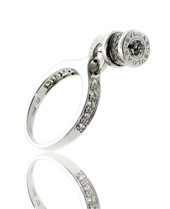 bulgari bzero1 diamond charm ring 18k white gold an853924