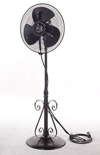 Misting Fans Outdoor Misting Fan 3 Speed All Weather Pedestal