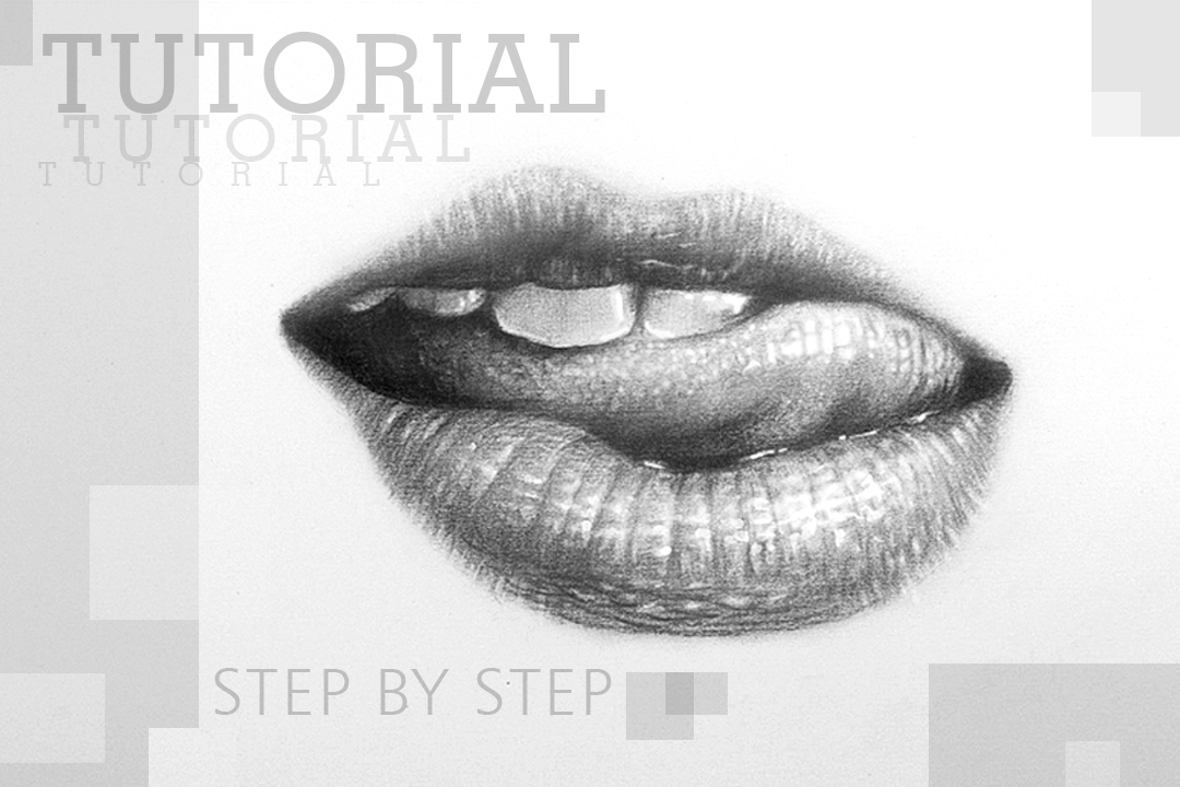 Drawing Lips Teeth And Tongue With Charcoal Pencil Easy And