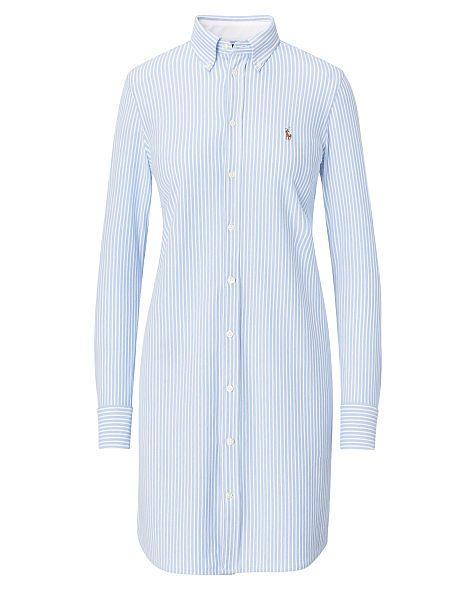 Striped Knit Oxford Shirtdress - Polo Ralph Lauren Short - RalphLauren.com
