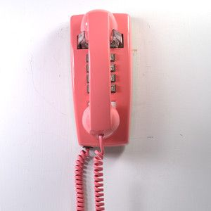 Pink 2554 Wall Phone, $105, now featured on Fab.