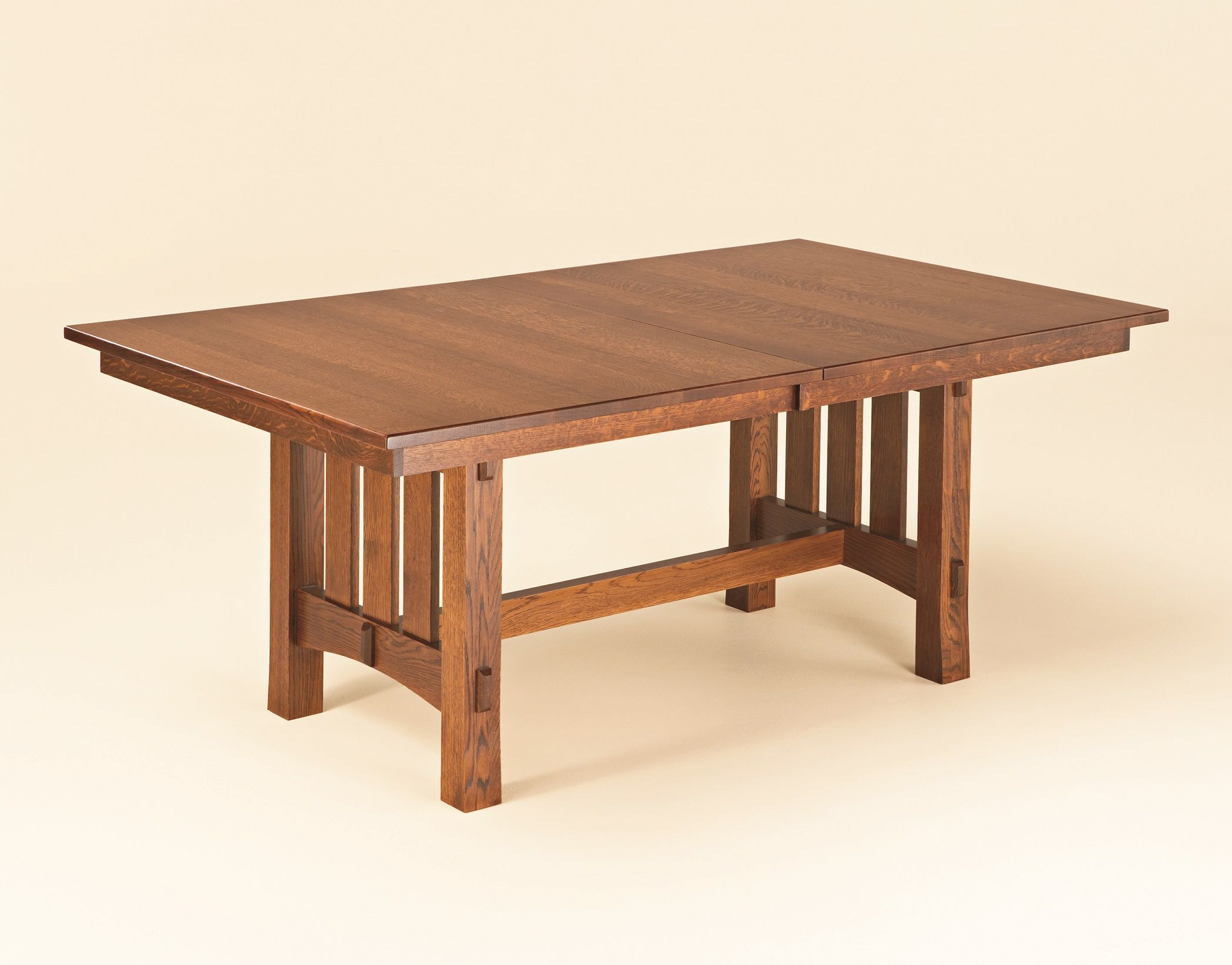 This Is A Classic Mission Dining Table With Through Tenon