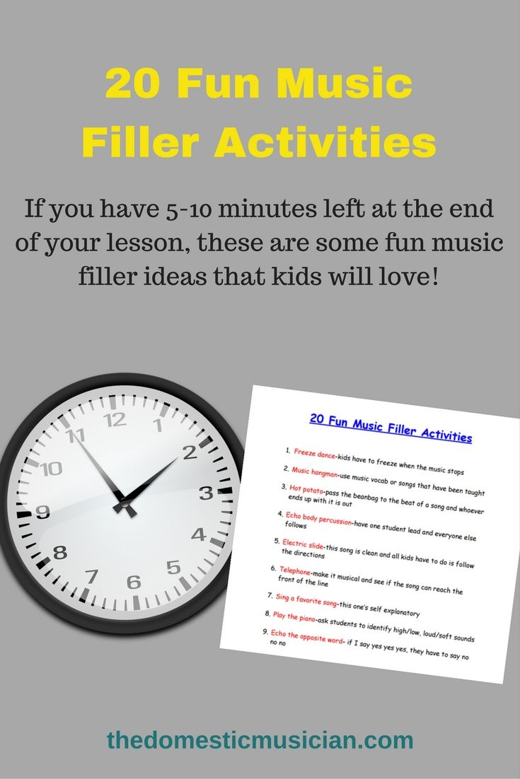 These are great music filler activities to use in your homeschool or ...