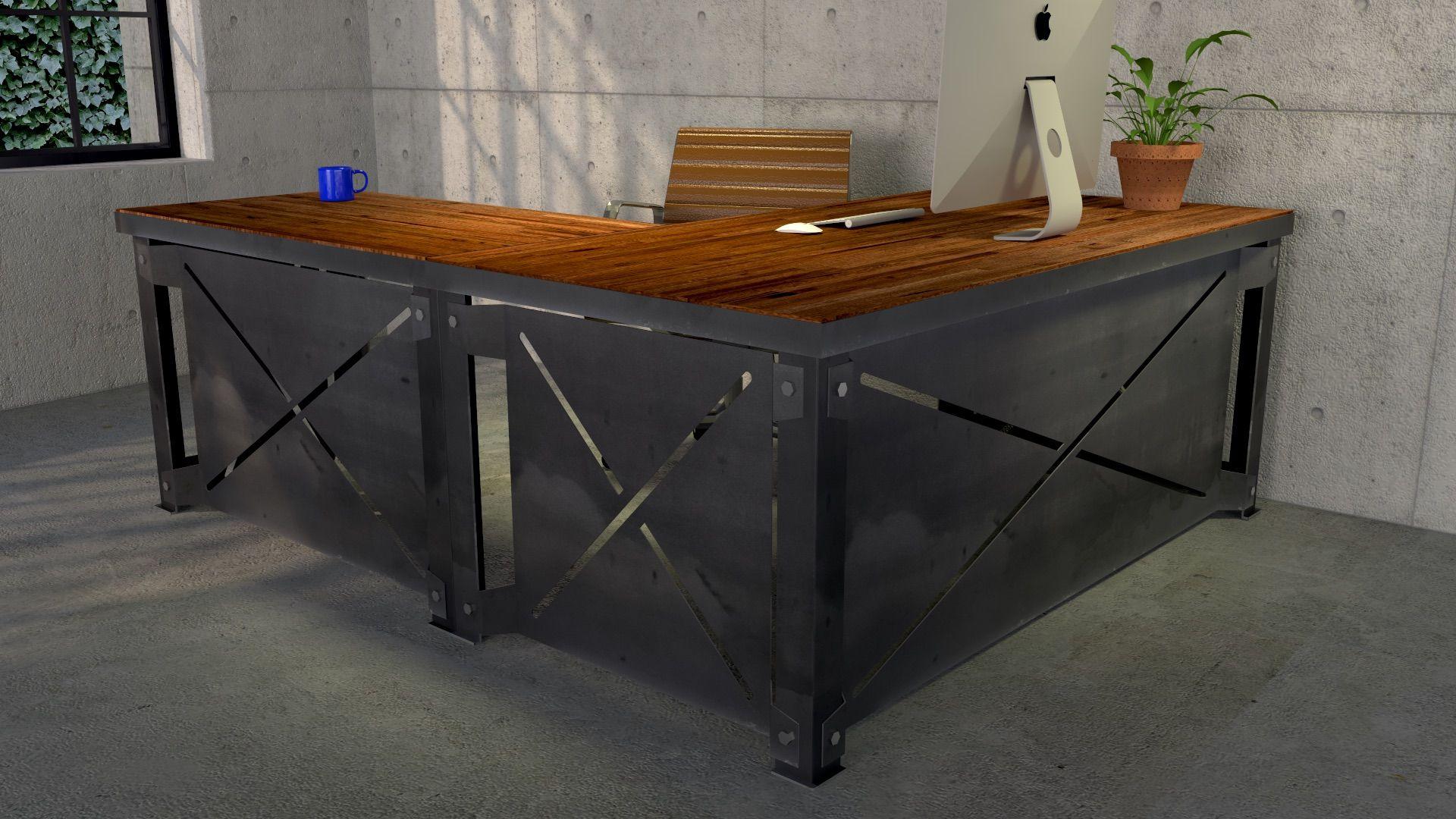 Xl Desk Vintage Industrial Desk Furniture Industrial Design