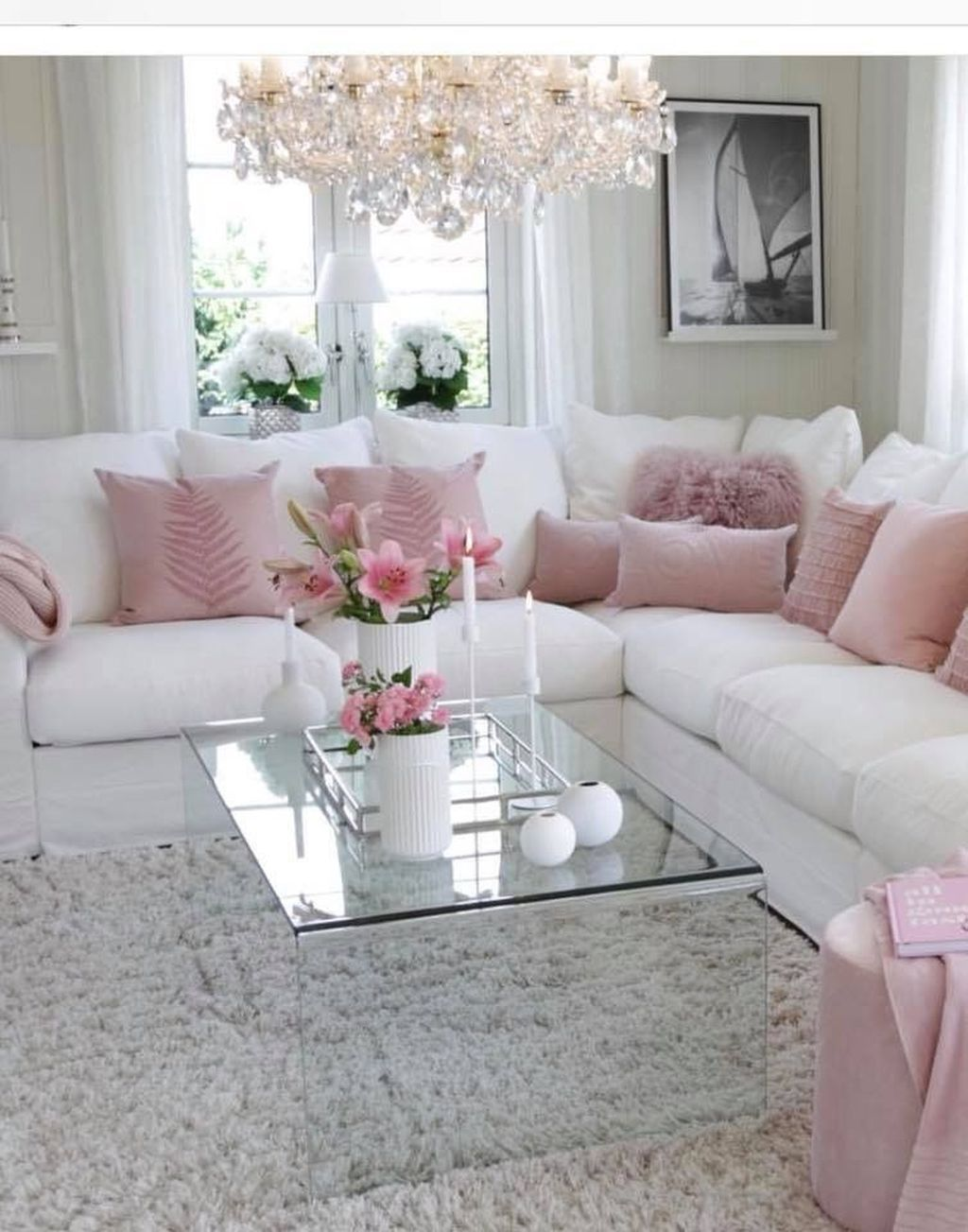 Family Room Image By Milissa Reid Romantic Living Room Chic Living Room Pink Living Room