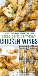 Crispy Baked Garlic Parmesan Chicken Wings | Baked Chicken Wings