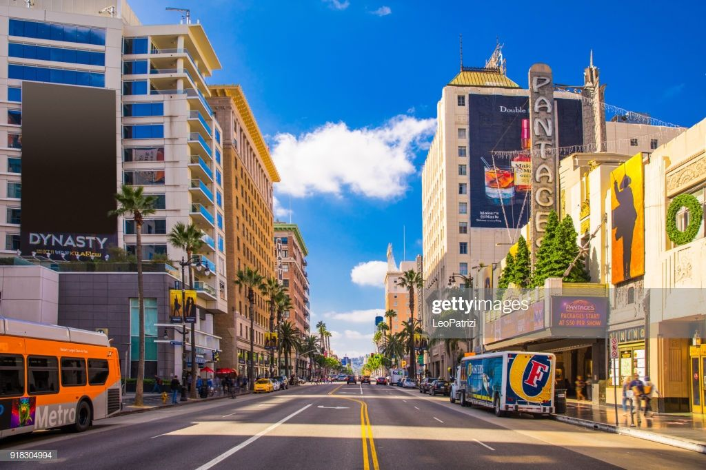 Sunset Boulevard Hollywood In Los Angeles Usa Popular Vacations California Photos Los Angeles Usa