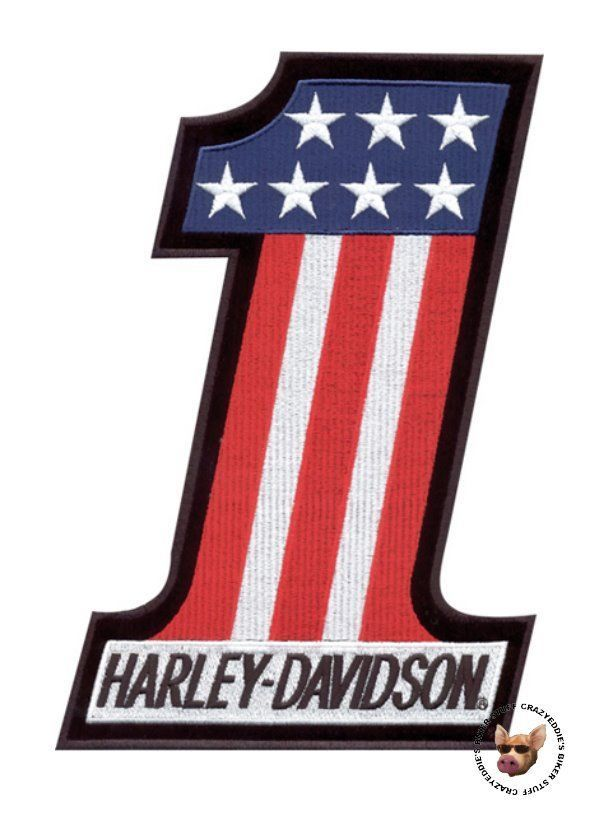Harley davidson usa number 1 evel knievel vest patch made usa small