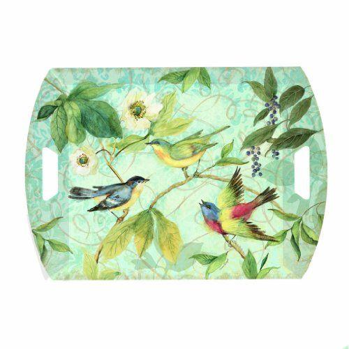 Decorative Plastic Serving Trays Tray Melamine Plastic Serving Floral 185 Inches X 135 Inches