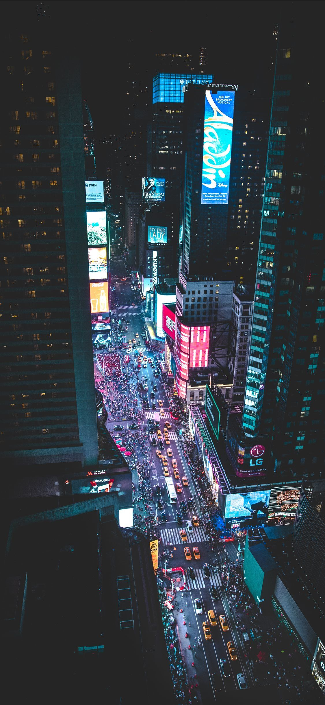 Aerial Photo Of A Busy City During Night Time City Wallpaper City Aesthetic Cyberpunk City