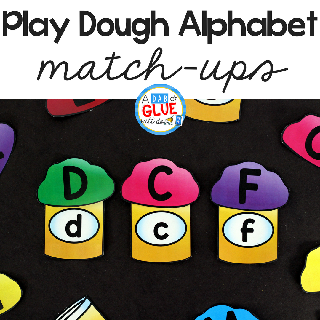 Play Dough Alphabet Match Ups