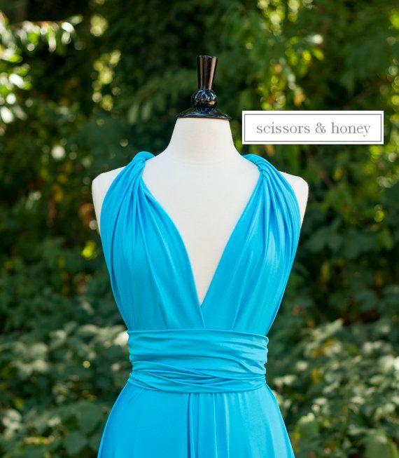 Floor Length ALine Convertible Dress Infinity by scissorsandhoney, 124.00