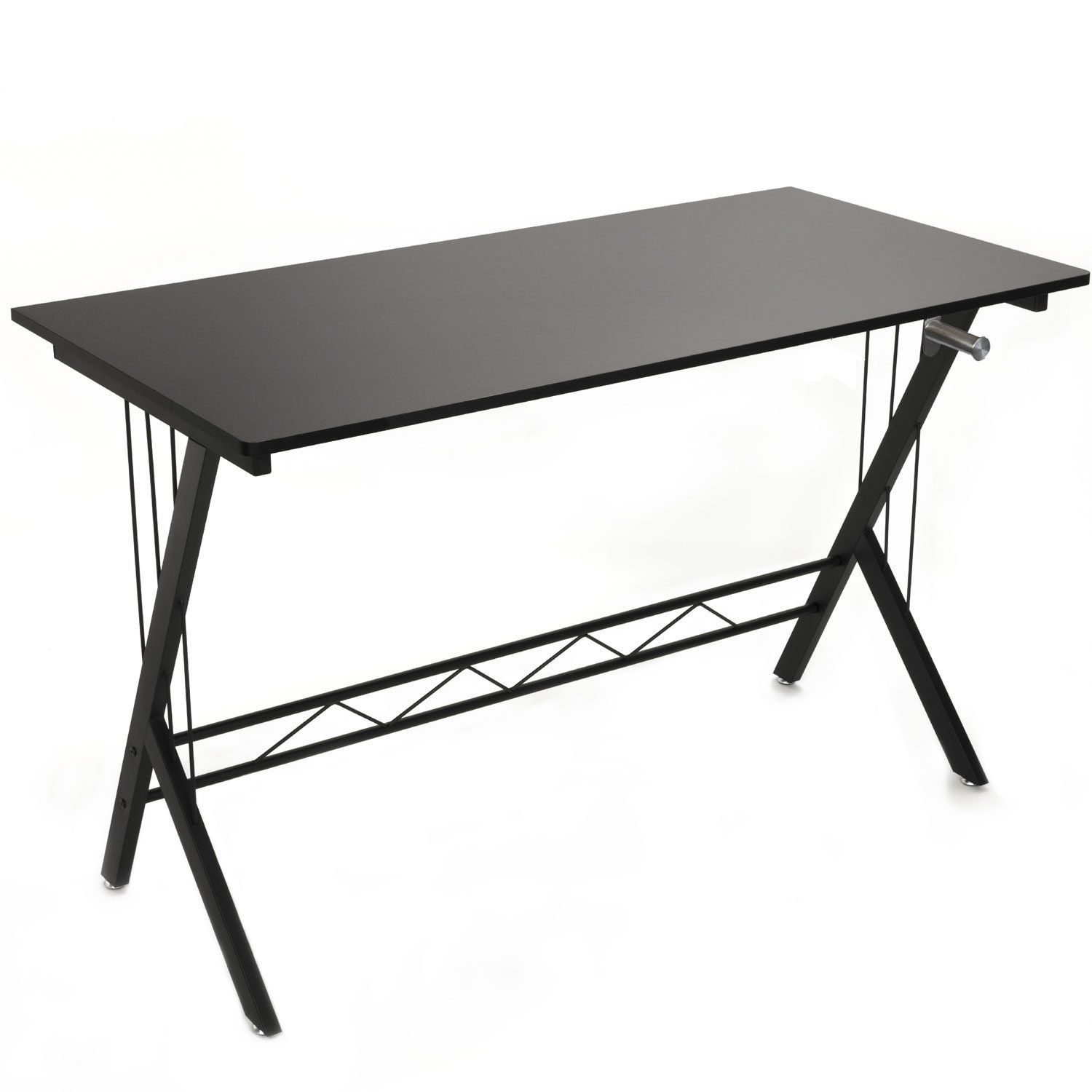 Gaming Desk Table Durable Workstation for Kids Room ,Home Office , Dorm Room , Black With Headphone Holder (Black With Headphone Holder)